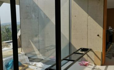 interiérový obklad + stôl Teak, konštrukcia