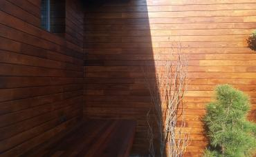 fasádny obklad thermo jaseň, teraska z IPE