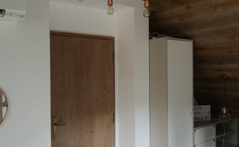 obklad interiéru, dvere dub